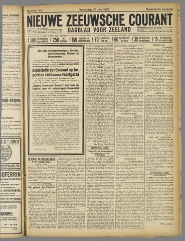 Nieuwe Zeeuwsche Courant 1923-06-27