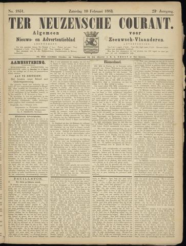 Ter Neuzensche Courant. Algemeen Nieuws- en Advertentieblad voor Zeeuwsch-Vlaanderen / Neuzensche Courant ... (idem) / (Algemeen) nieuws en advertentieblad voor Zeeuwsch-Vlaanderen 1883-02-10