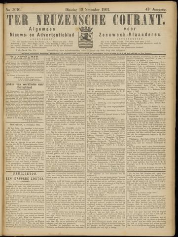 Ter Neuzensche Courant. Algemeen Nieuws- en Advertentieblad voor Zeeuwsch-Vlaanderen / Neuzensche Courant ... (idem) / (Algemeen) nieuws en advertentieblad voor Zeeuwsch-Vlaanderen 1907-11-12