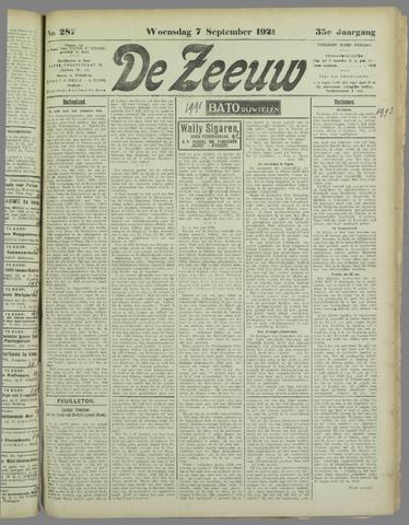 De Zeeuw. Christelijk-historisch nieuwsblad voor Zeeland 1921-09-07