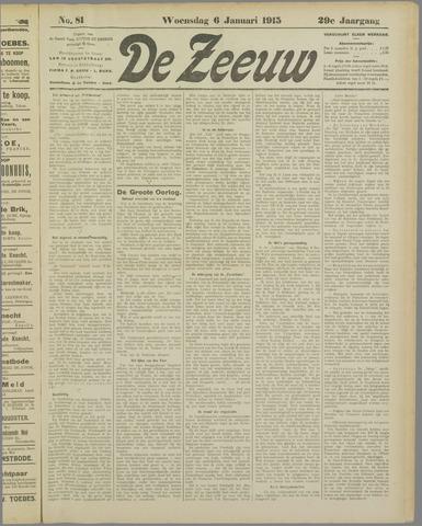 De Zeeuw. Christelijk-historisch nieuwsblad voor Zeeland 1915-01-06