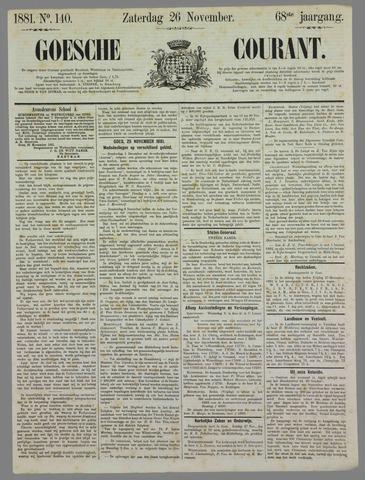 Goessche Courant 1881-11-26