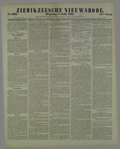 Zierikzeesche Nieuwsbode 1888-07-03