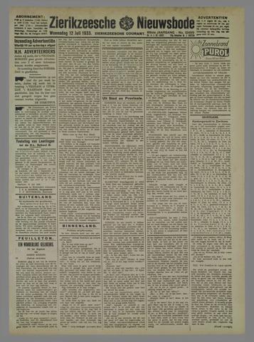 Zierikzeesche Nieuwsbode 1933-07-12