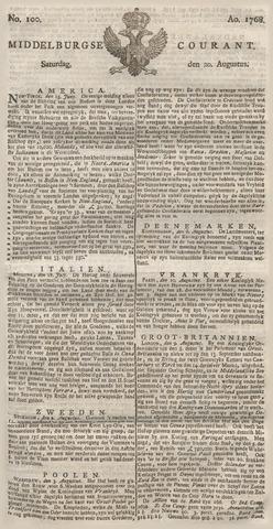 Middelburgsche Courant 1768-08-20