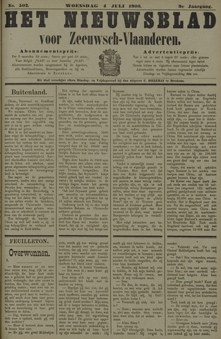 Nieuwsblad voor Zeeuwsch-Vlaanderen 1900-07-04