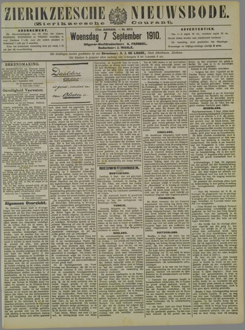 Zierikzeesche Nieuwsbode 1910-09-07