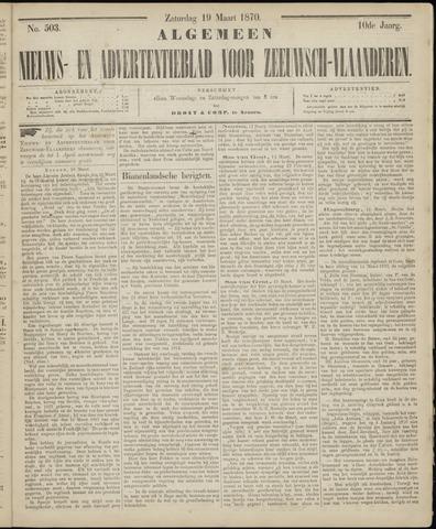 Ter Neuzensche Courant. Algemeen Nieuws- en Advertentieblad voor Zeeuwsch-Vlaanderen / Neuzensche Courant ... (idem) / (Algemeen) nieuws en advertentieblad voor Zeeuwsch-Vlaanderen 1870-03-19