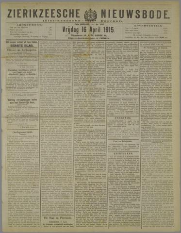 Zierikzeesche Nieuwsbode 1915-04-16