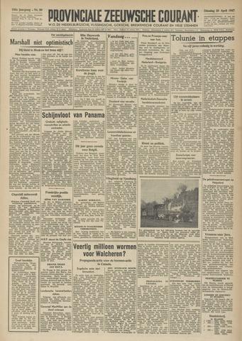Provinciale Zeeuwse Courant 1947-04-29