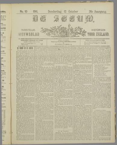 De Zeeuw. Christelijk-historisch nieuwsblad voor Zeeland 1911-10-12