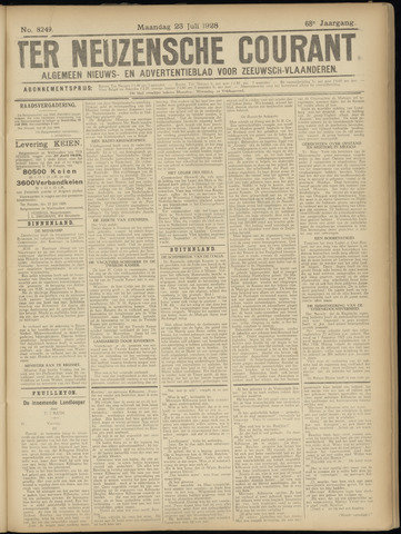 Ter Neuzensche Courant. Algemeen Nieuws- en Advertentieblad voor Zeeuwsch-Vlaanderen / Neuzensche Courant ... (idem) / (Algemeen) nieuws en advertentieblad voor Zeeuwsch-Vlaanderen 1928-07-23