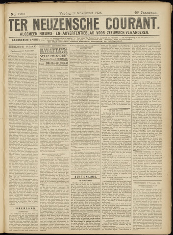 Ter Neuzensche Courant. Algemeen Nieuws- en Advertentieblad voor Zeeuwsch-Vlaanderen / Neuzensche Courant ... (idem) / (Algemeen) nieuws en advertentieblad voor Zeeuwsch-Vlaanderen 1926-11-19