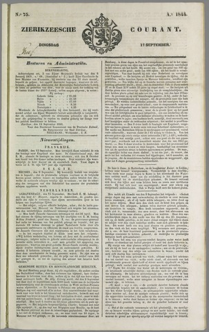 Zierikzeesche Courant 1844-09-17