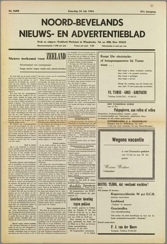 Noord-Bevelands Nieuws- en advertentieblad 1954-07-24