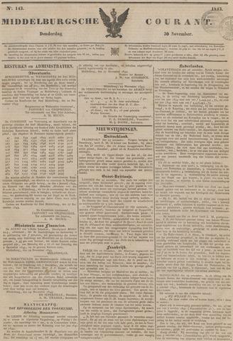 Middelburgsche Courant 1843-11-30