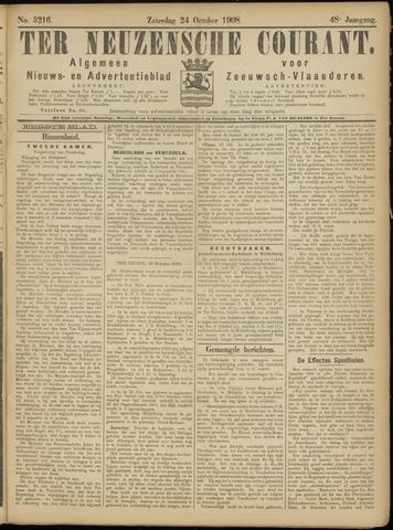 Ter Neuzensche Courant. Algemeen Nieuws- en Advertentieblad voor Zeeuwsch-Vlaanderen / Neuzensche Courant ... (idem) / (Algemeen) nieuws en advertentieblad voor Zeeuwsch-Vlaanderen 1908-10-24