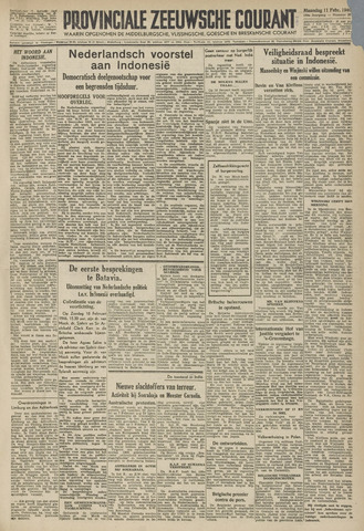 Provinciale Zeeuwse Courant 1946-02-11