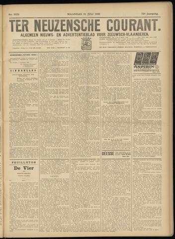 Ter Neuzensche Courant. Algemeen Nieuws- en Advertentieblad voor Zeeuwsch-Vlaanderen / Neuzensche Courant ... (idem) / (Algemeen) nieuws en advertentieblad voor Zeeuwsch-Vlaanderen 1933-07-31