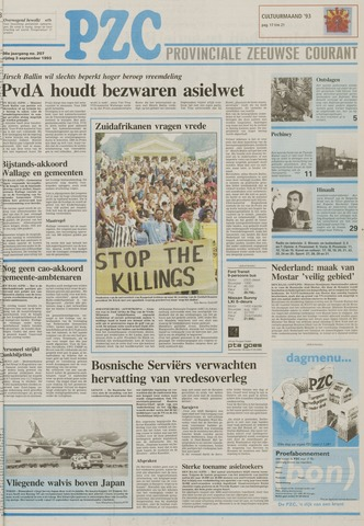 Provinciale Zeeuwse Courant 1993-09-03