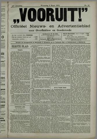 """""""Vooruit!""""Officieel Nieuws- en Advertentieblad voor Overflakkee en Goedereede 1915-03-03"""
