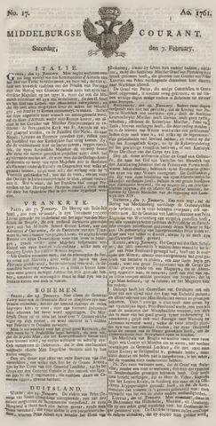 Middelburgsche Courant 1761-02-07