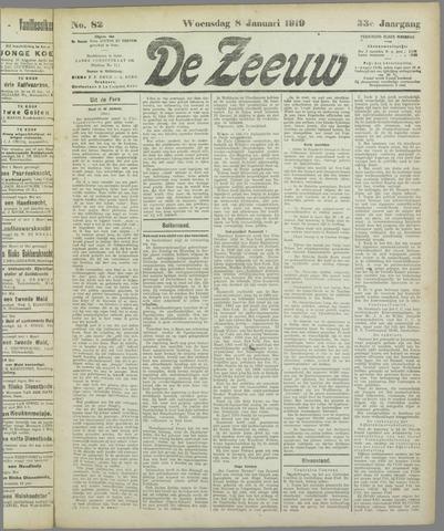 De Zeeuw. Christelijk-historisch nieuwsblad voor Zeeland 1919-01-08