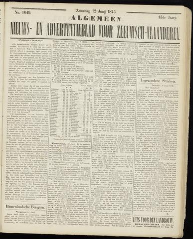 Ter Neuzensche Courant. Algemeen Nieuws- en Advertentieblad voor Zeeuwsch-Vlaanderen / Neuzensche Courant ... (idem) / (Algemeen) nieuws en advertentieblad voor Zeeuwsch-Vlaanderen 1875-06-12