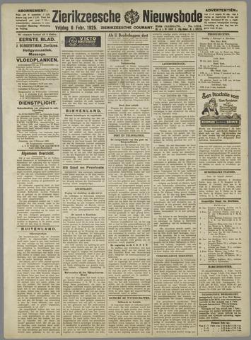 Zierikzeesche Nieuwsbode 1925-02-06