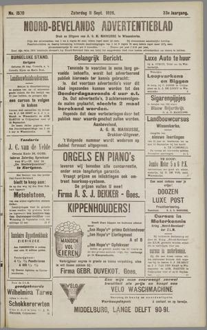 Noord-Bevelands Nieuws- en advertentieblad 1926-09-11