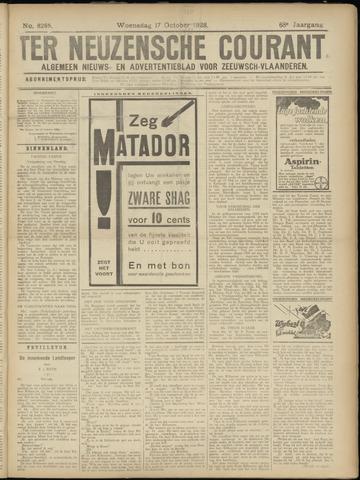 Ter Neuzensche Courant. Algemeen Nieuws- en Advertentieblad voor Zeeuwsch-Vlaanderen / Neuzensche Courant ... (idem) / (Algemeen) nieuws en advertentieblad voor Zeeuwsch-Vlaanderen 1928-10-17