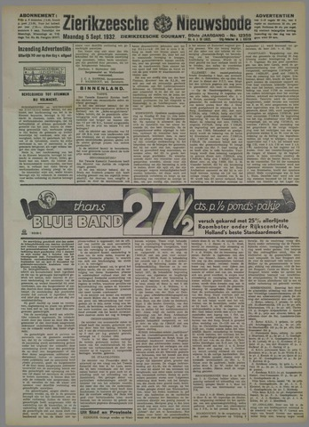 Zierikzeesche Nieuwsbode 1932-09-05
