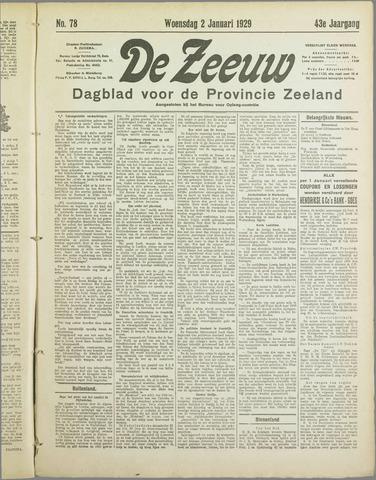 De Zeeuw. Christelijk-historisch nieuwsblad voor Zeeland 1929
