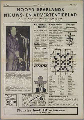 Noord-Bevelands Nieuws- en advertentieblad 1967-06-24