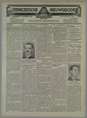 Zierikzeesche Nieuwsbode 1940-10-03