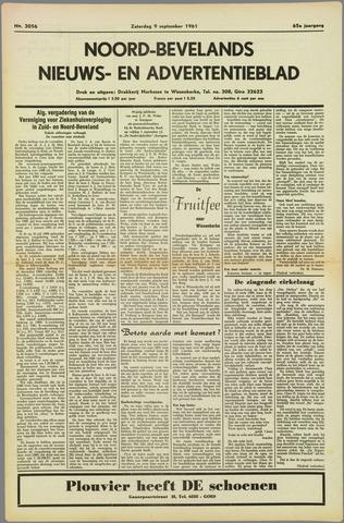 Noord-Bevelands Nieuws- en advertentieblad 1961-09-09