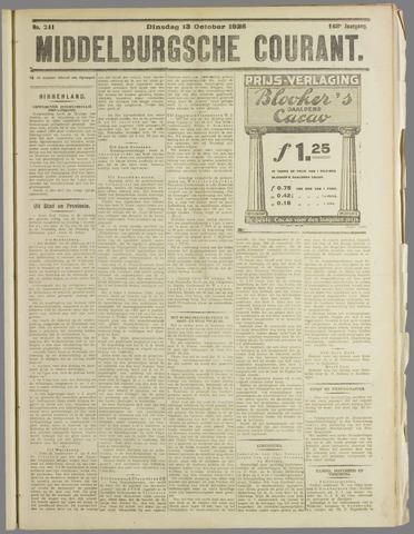 Middelburgsche Courant 1925-10-13
