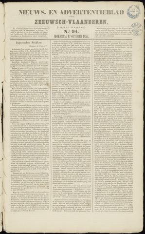 Ter Neuzensche Courant. Algemeen Nieuws- en Advertentieblad voor Zeeuwsch-Vlaanderen / Neuzensche Courant ... (idem) / (Algemeen) nieuws en advertentieblad voor Zeeuwsch-Vlaanderen 1855-10-17
