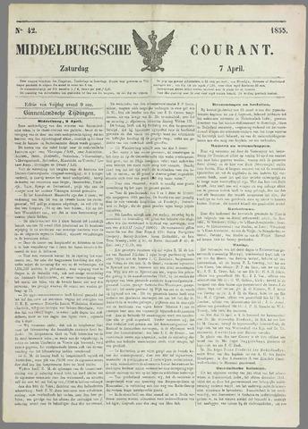 Middelburgsche Courant 1855-04-07
