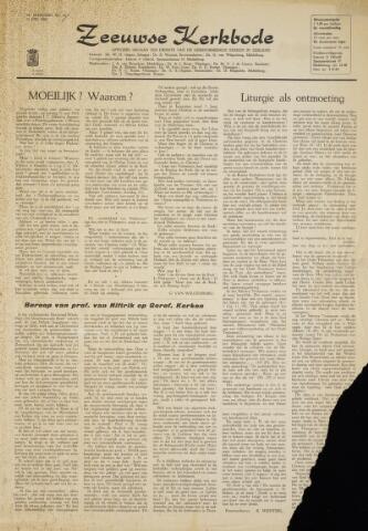 Zeeuwsche kerkbode, weekblad gewijd aan de belangen der gereformeerde kerken/ Zeeuwsch kerkblad 1964-05-15