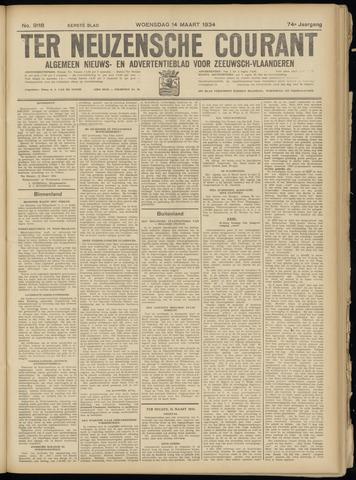 Ter Neuzensche Courant. Algemeen Nieuws- en Advertentieblad voor Zeeuwsch-Vlaanderen / Neuzensche Courant ... (idem) / (Algemeen) nieuws en advertentieblad voor Zeeuwsch-Vlaanderen 1934-03-14