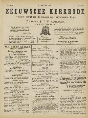 Zeeuwsche kerkbode, weekblad gewijd aan de belangen der gereformeerde kerken/ Zeeuwsch kerkblad 1890-08-09