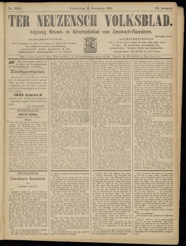 Ter Neuzensch Volksblad. Vrijzinnig nieuws- en advertentieblad voor Zeeuwsch- Vlaanderen / Zeeuwsch Nieuwsblad. Nieuws- en advertentieblad voor Zeeland 1911-12-28