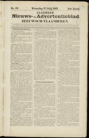Ter Neuzensche Courant. Algemeen Nieuws- en Advertentieblad voor Zeeuwsch-Vlaanderen / Neuzensche Courant ... (idem) / (Algemeen) nieuws en advertentieblad voor Zeeuwsch-Vlaanderen 1861-07-17