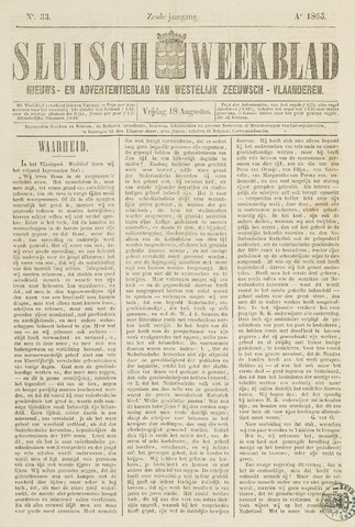 Sluisch Weekblad. Nieuws- en advertentieblad voor Westelijk Zeeuwsch-Vlaanderen 1865-08-18