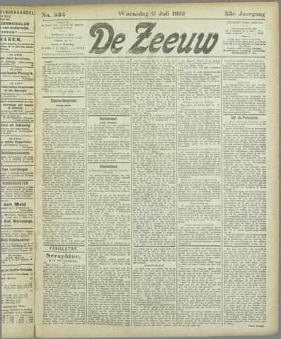 De Zeeuw. Christelijk-historisch nieuwsblad voor Zeeland 1919-07-09