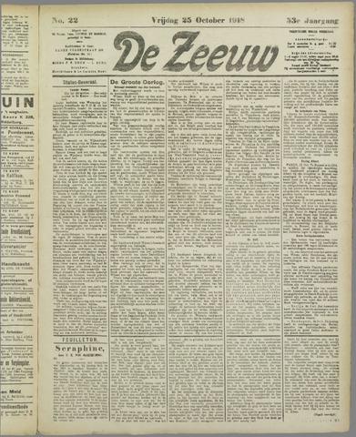 De Zeeuw. Christelijk-historisch nieuwsblad voor Zeeland 1918-10-25