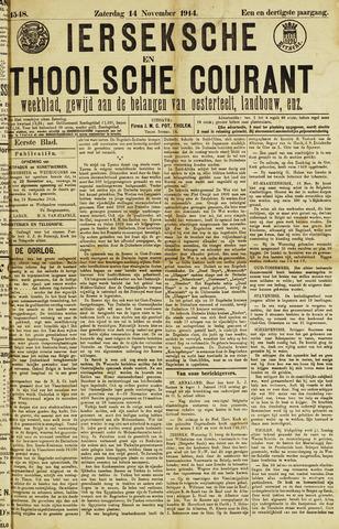 Ierseksche en Thoolsche Courant 1914-11-14