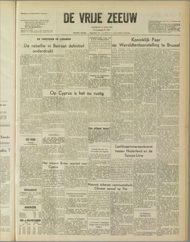 de Vrije Zeeuw 1958-06-17