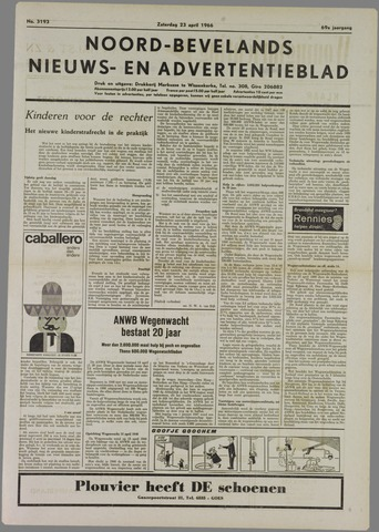 Noord-Bevelands Nieuws- en advertentieblad 1966-04-23
